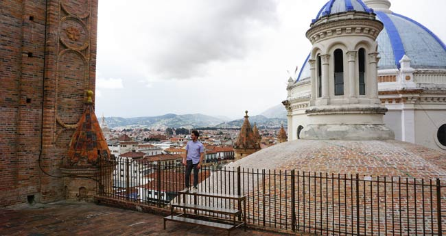 Among the rooftops in Cuenca, Ecuador